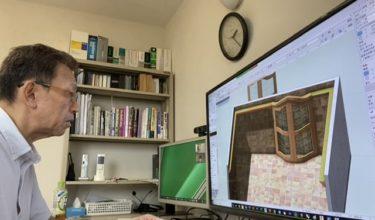 VectorWorksオンラインレッスン・3DでRの建具